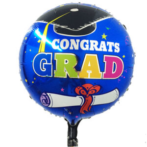 Congrats-Grad Foil Balloon 18″ Round for graduating students