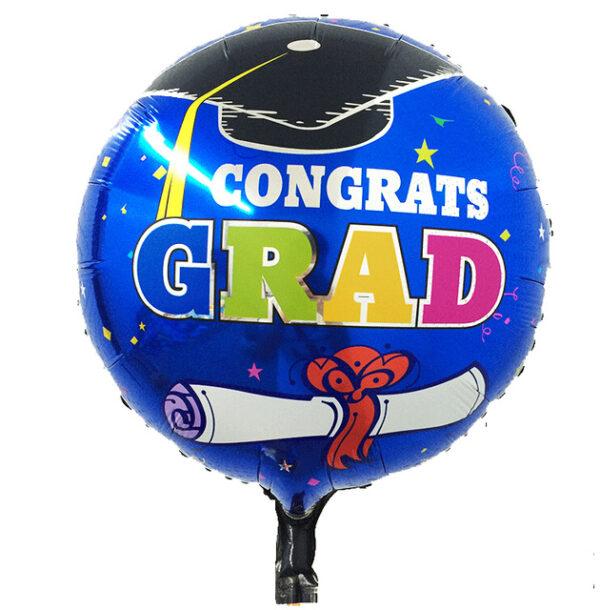 Congrats-Grad Foil Balloon 18″ Round for graduating students