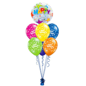 Birthday Printed Mixed Colors Balloon Bouquet