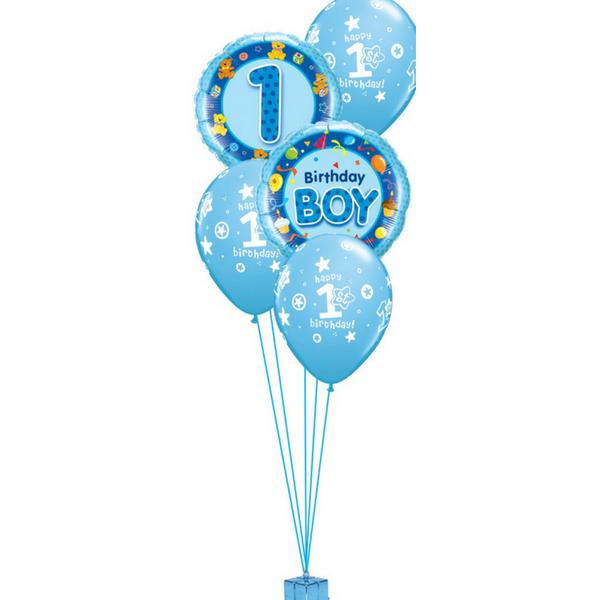 Boy's 1st Birthday Balloon Bouquet