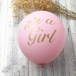 Girl Baby Shower Latex Balloon