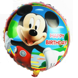 Happy Birthday Foil Balloon Mickey Mouse Design 18""