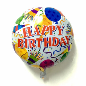 Happy Birthday Round foil Balloon 18 inches