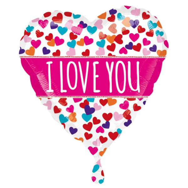 I Love You Foil Balloon 18 inches Wedding Appreciation Special Occasion Valentines day Balloon