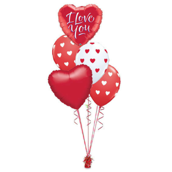 I Love You Foil & Latex Balloon Bouquet