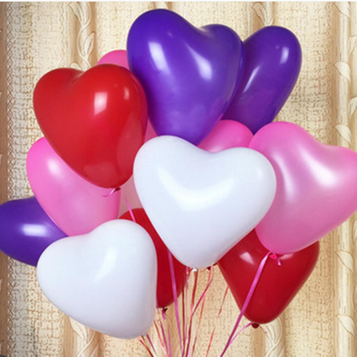 Love Heart Shape Latex Balloon Valentine Proposal Wedding ...