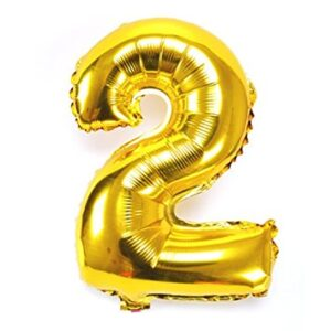 Number 2 Giant Gold Balloon Birthday Party Foil 40 inches