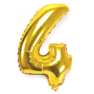 Number 4 Giant Gold Balloon Birthday Party Foil 40 inches