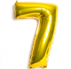 Number 7 Giant Gold Balloon Birthday Party Foil 40 inches