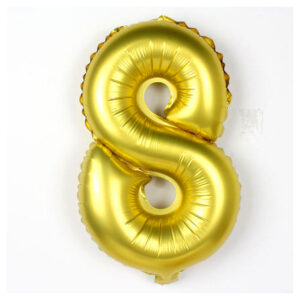 Number 8 Giant Gold Balloon Birthday Party Foil