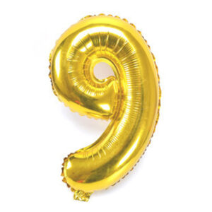 Number 9 Giant Gold Balloon Birthday Party Foil 40 inches