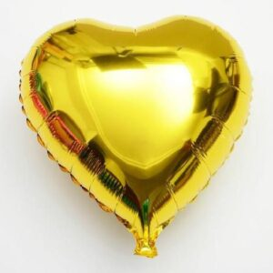 Plain Foil Love Heart shape Golden Color Balloon 12 Inches