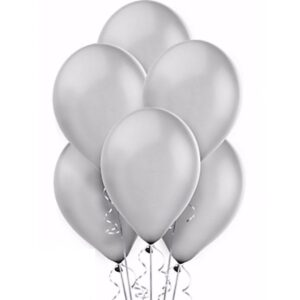 Silver Latex Balloon 12inch party decoration birthday