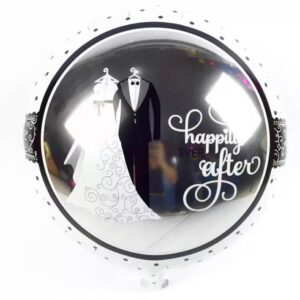 Wedding Balloon Happily Ever after Foil 18 inches