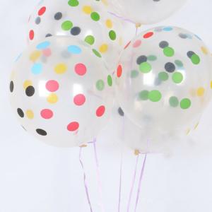 Clear Multi-color Polka Balloon