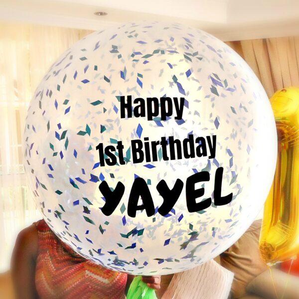 Jumbo Confetti Balloon Personalized